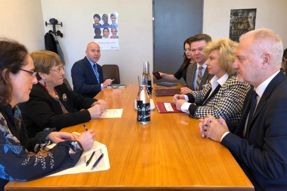 Tatiana Moskalkova held meeting with UN High Commissioner for Human Rights Michelle Bachelet