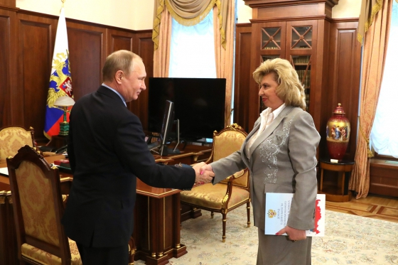 Tatiana Moskalkova presented the annual report of the High Commissioner to Vladimir Putin