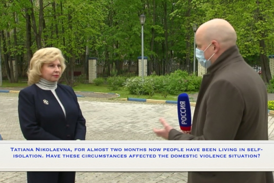 Interview of the High Commissioner for Human Rights in the Russian Federation for Russia-24 TV Channel Following the Visit to Crisis Center for Women