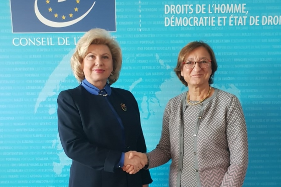 High Commissioner met with CoE and ECHR representatives in Strasbourg