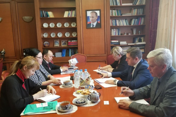 Meeting with delegation of State Migration Service Representative Office under Kyrgyz Republic Government
