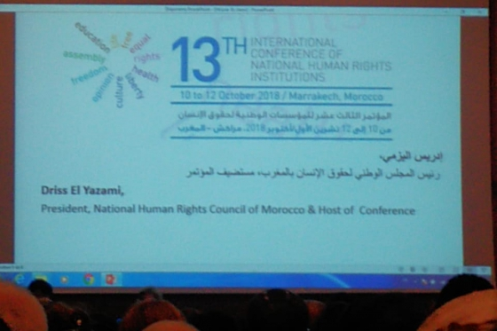 High Commissioner representative participated in International Conference of National Human Rights Institutions in Morocco
